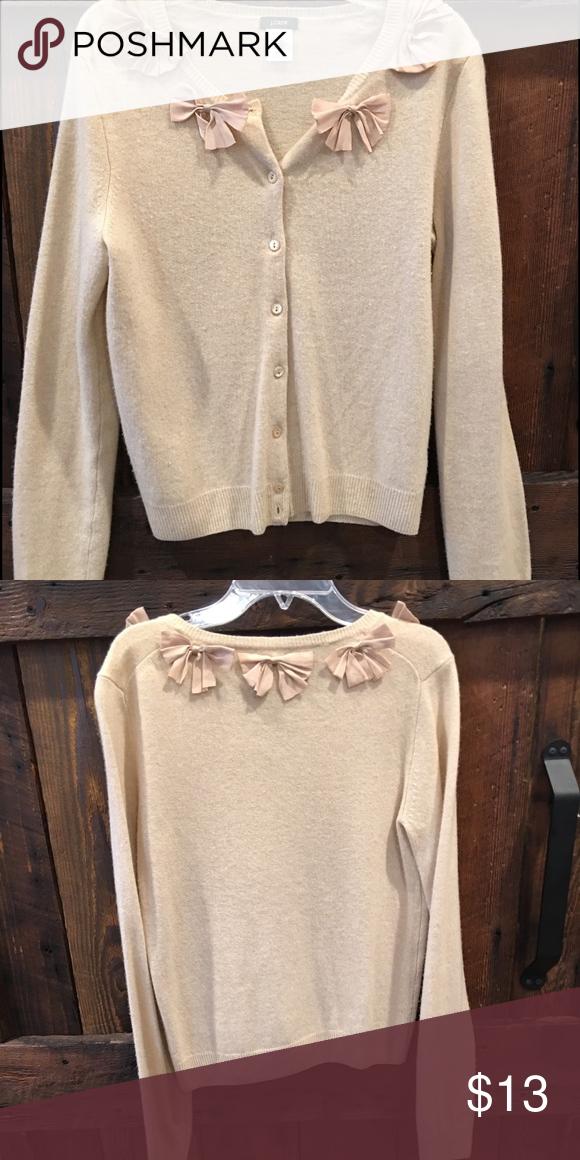 Jcrew Bow Sweater 90% wool, 10% cashmere jcrew Sweaters Cardigans