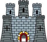 free clip art castles | Medieval Castle Clip Art for Family Coat ...
