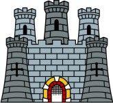 Castle inside. Free clip art castles