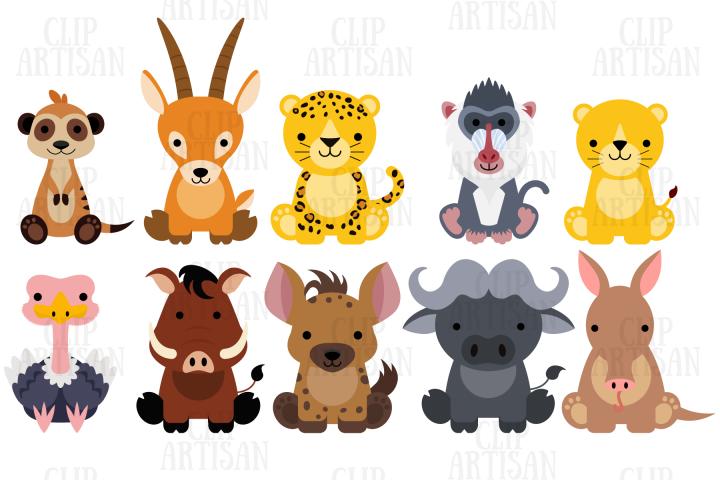 African Animals Clipart Set 2 Safari Zoo 438402 Illustrations Design Bundles Animal Clipart African Animals Animal Clipart Free