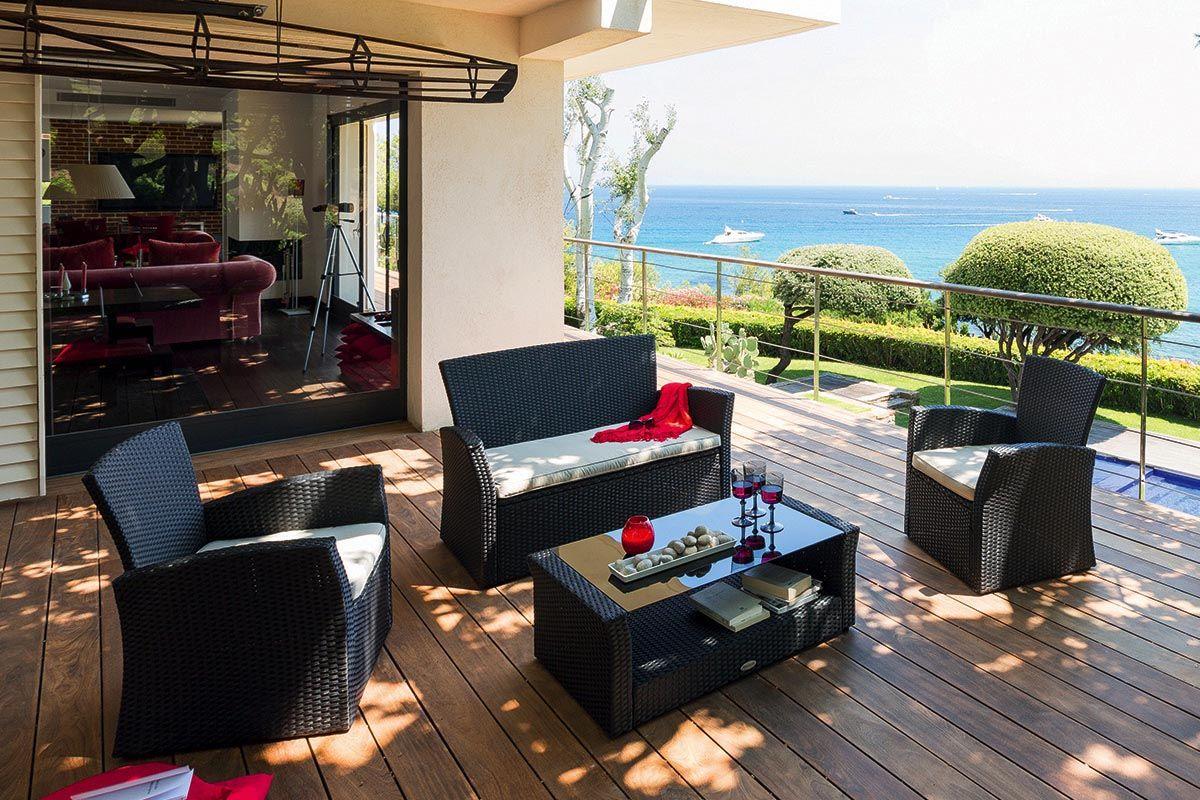 Salon de jardin Bora Bora noir - HESPERIDE | Agrément de ...