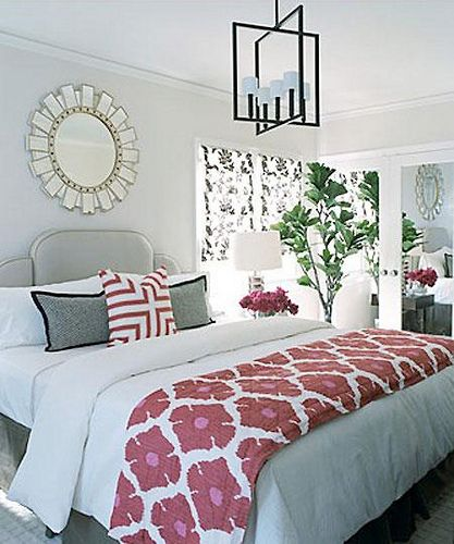 Very Light Grey Walls With Lots Of White And A Pops Color