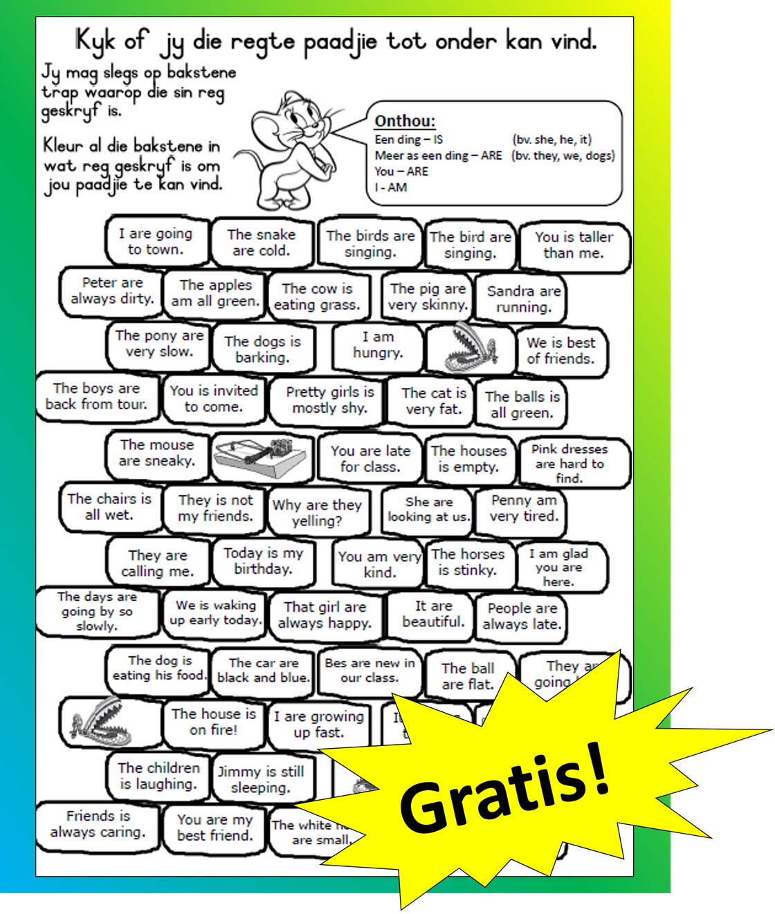 English worksheets English gr4 worksheets