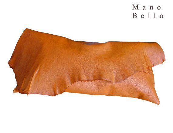 Suave cuero crudo borde Bolsa sillín Tan medio tamaño, cuero bolso de embrague, uno de un tipo bolsos, bolso de cuero naranja, Tan embrague en stock