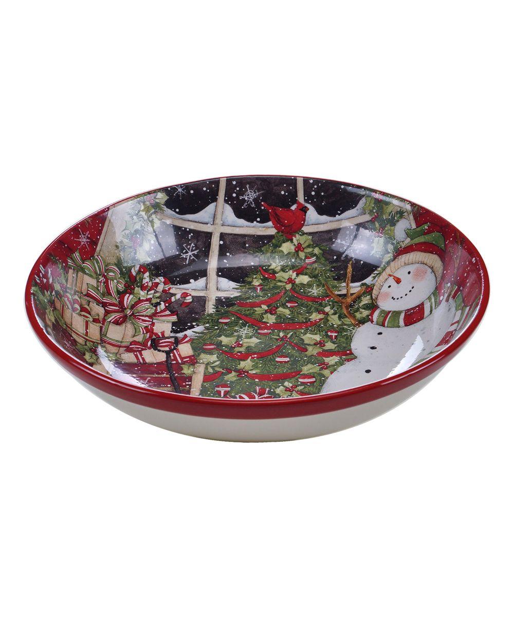 Snowman Sleigh Pasta Bowl