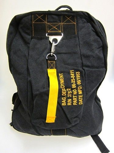 Rothco Vintage Flight Backpack Military Style - Black Army Surplus