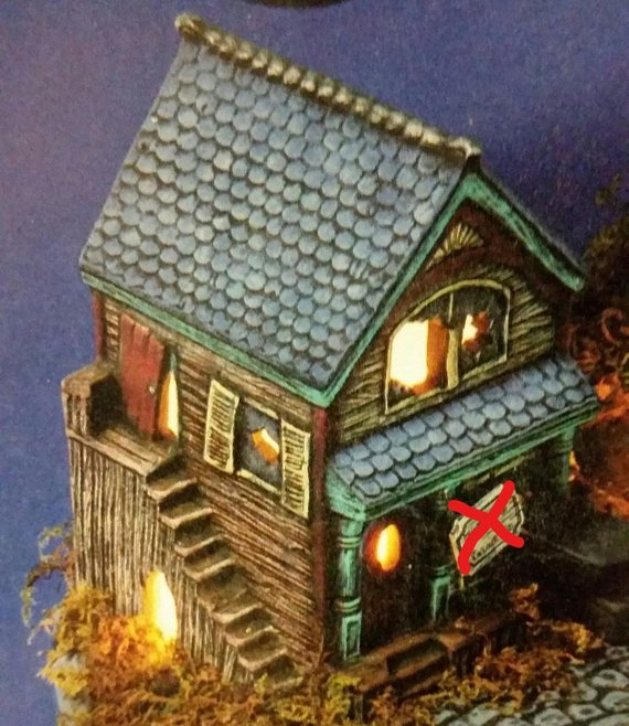Casket Shop Halloween Haunted House Village LIGHTS UP Ready to Paint
