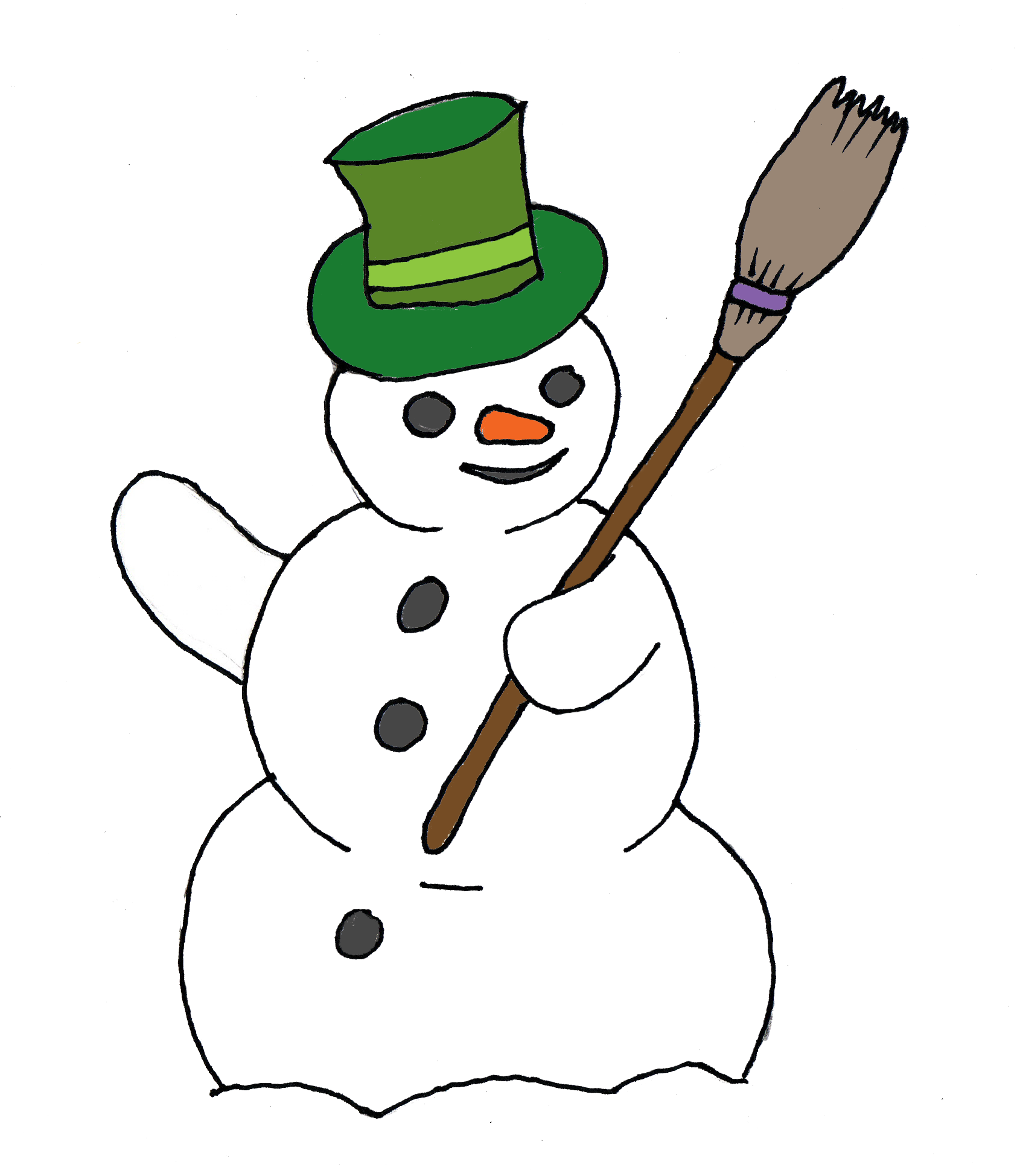 medium resolution of free snowman clip art