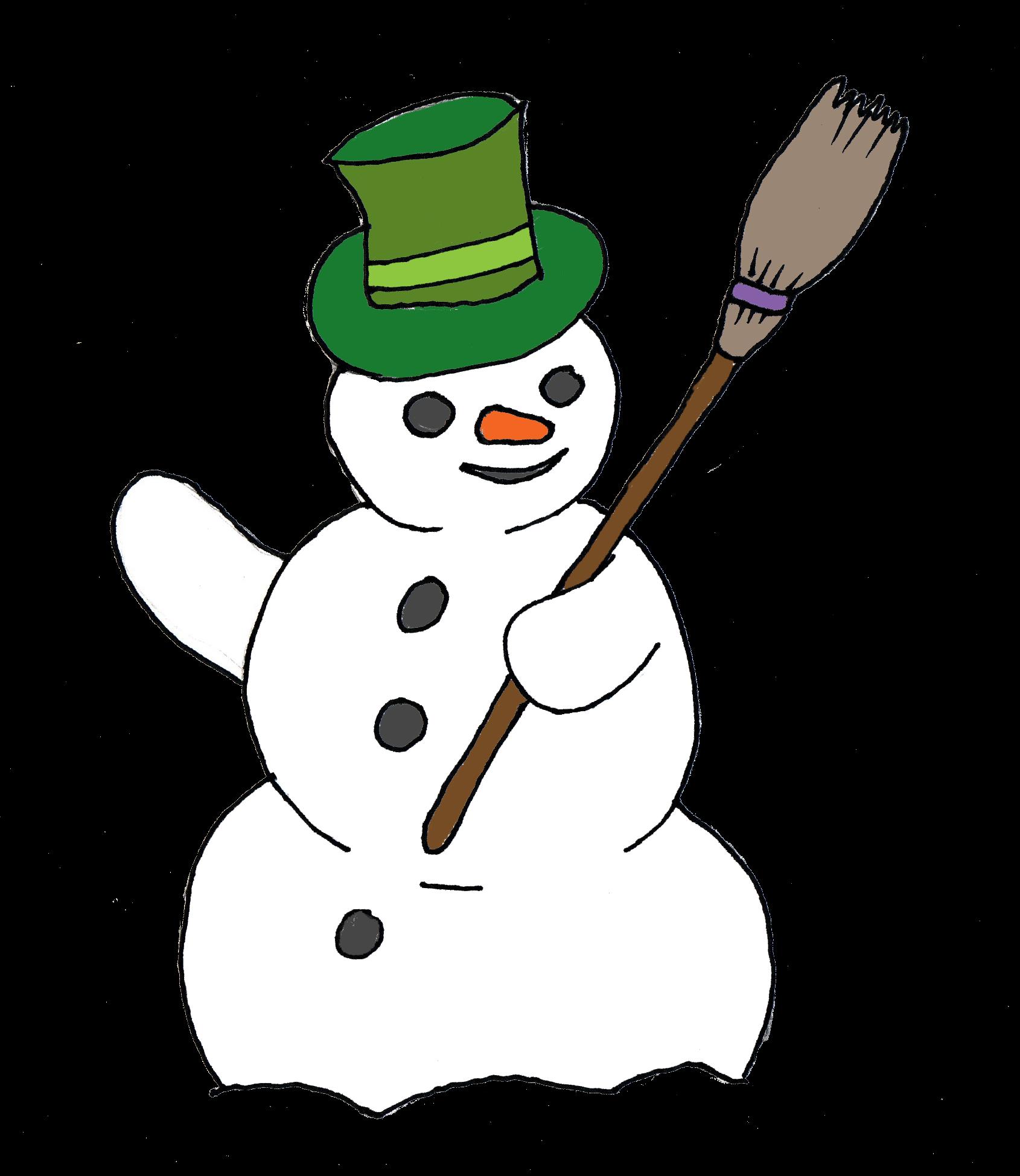 free snowman clip art [ 1690 x 1948 Pixel ]