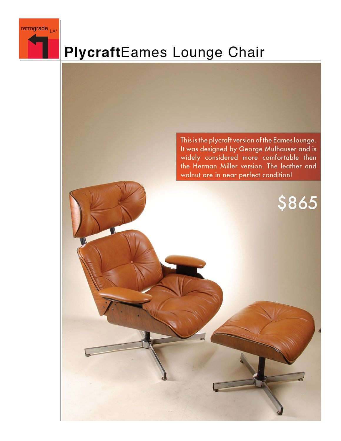 Tan Leather and Walnut Eames Lounge Chair with OttomanTan Leather and Walnut Eames Lounge Chair with Ottoman   Lounge  . Eames Lounge Chair And Ottoman Walnut Frame Standard Leather. Home Design Ideas