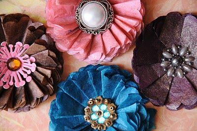 Tutorial on fabulous flowers using coffee filters :-)