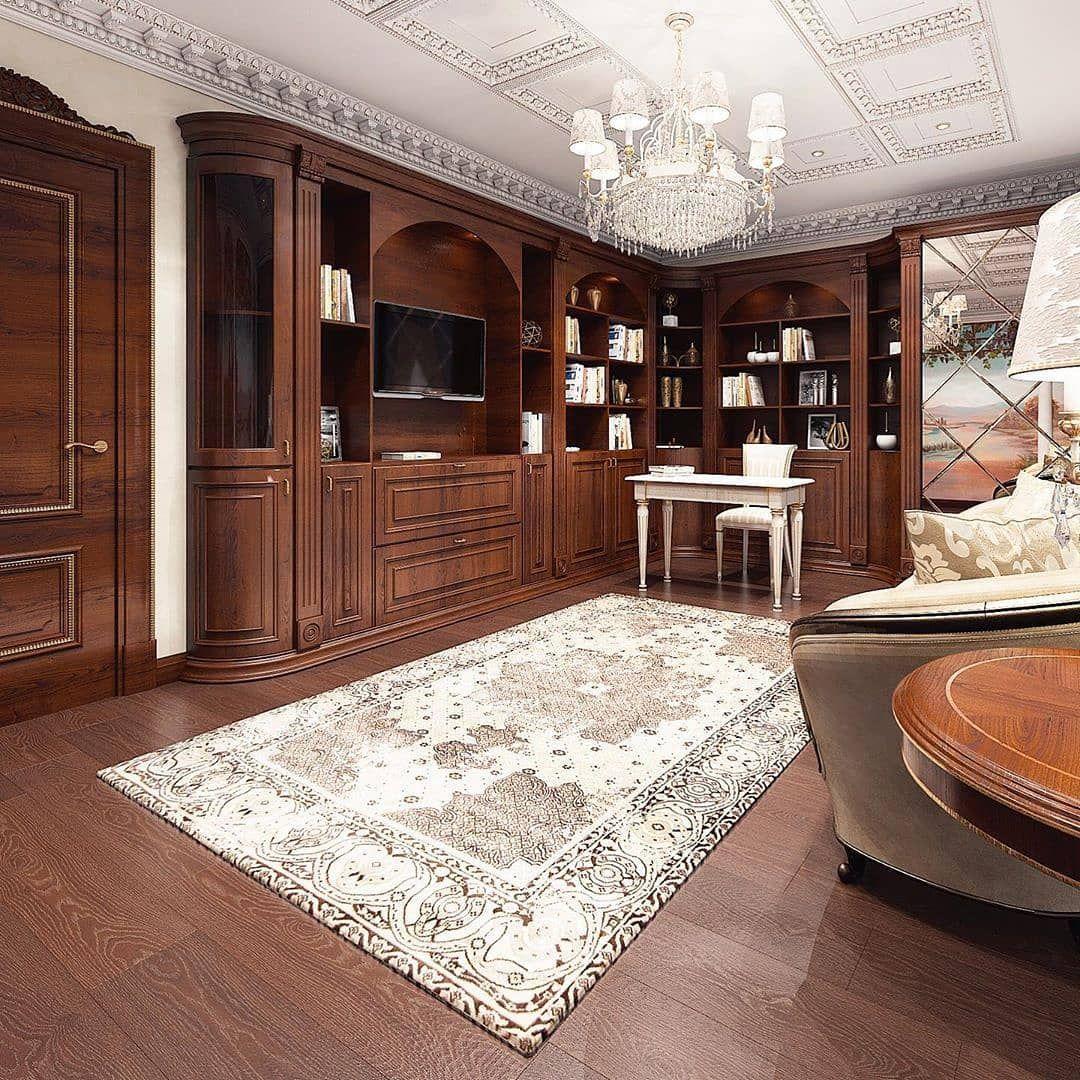 کتابخانه خصوصی به سبک کلاسیک سمانه فرج زاده طراح و مجری پروژه...
