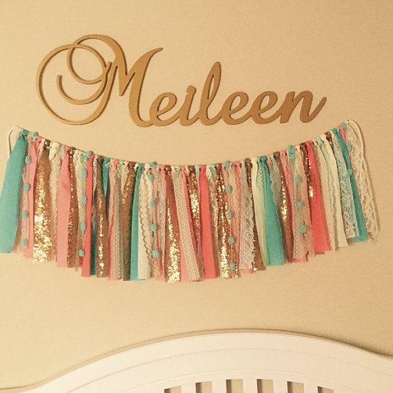 Wooden Name Plaque - Gold Name Sign - Wall Hanging Letters - Bedroom ...
