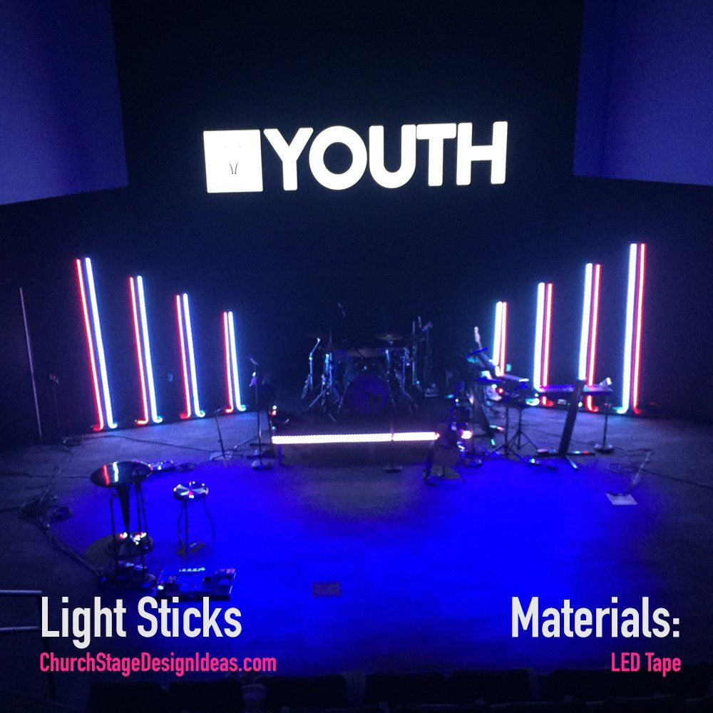 light sticks church stage design