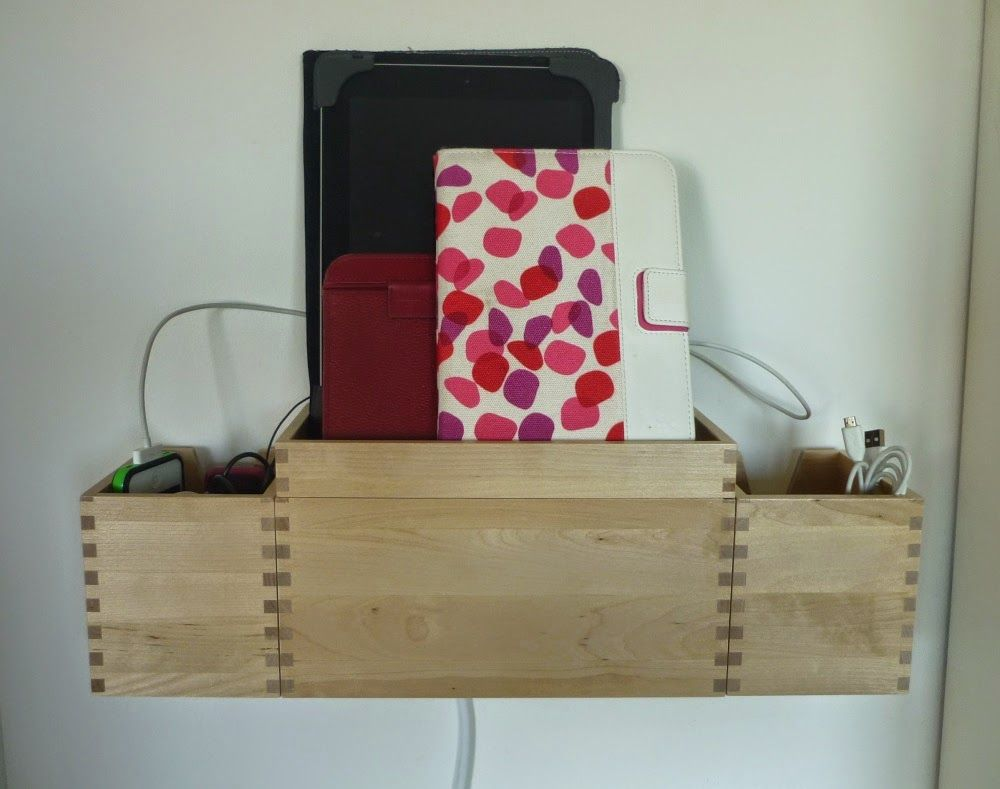 Wall Mounted Charging Station Plus Earphone Cable Storage Ikea