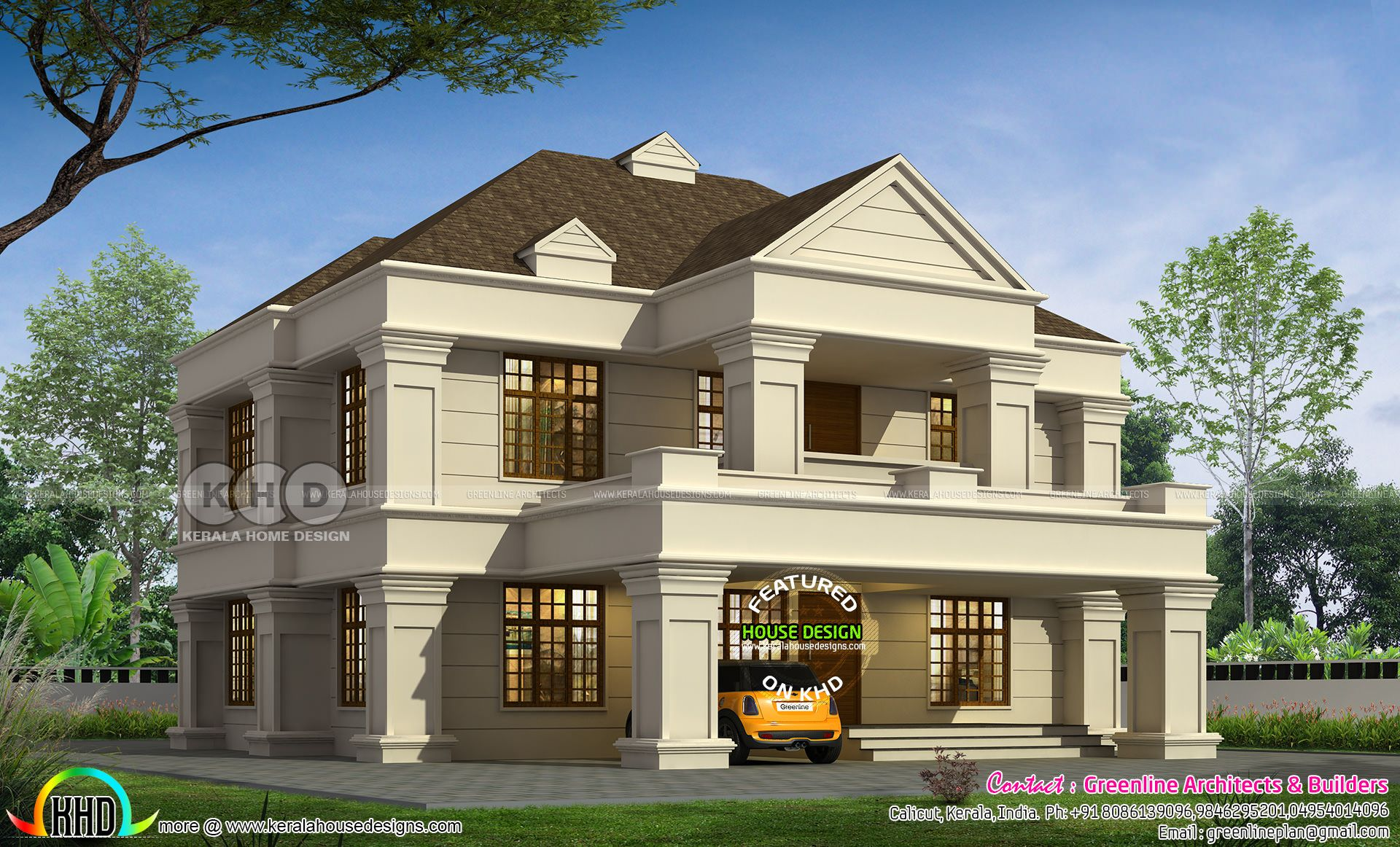 2945 Sq Ft 5 Bhk Colonial House Plan Colonial House Plans House Plans Colonial House