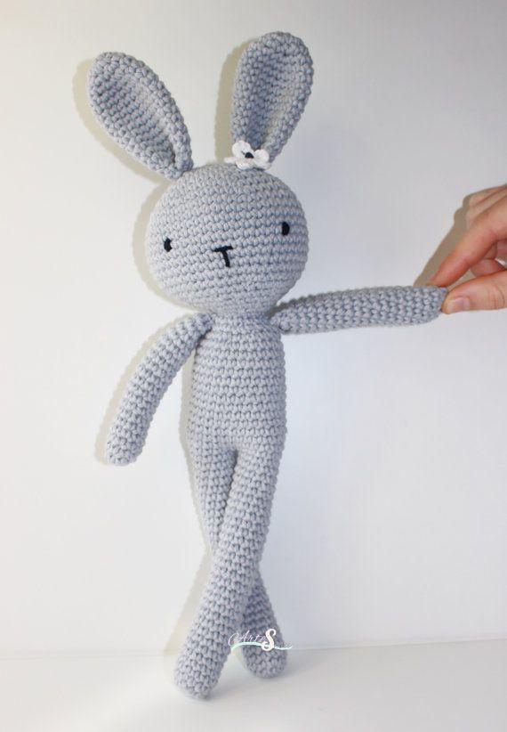 Conejo amigurumi, Amigurumi crochet muñeco,regalo niños, conejo ...