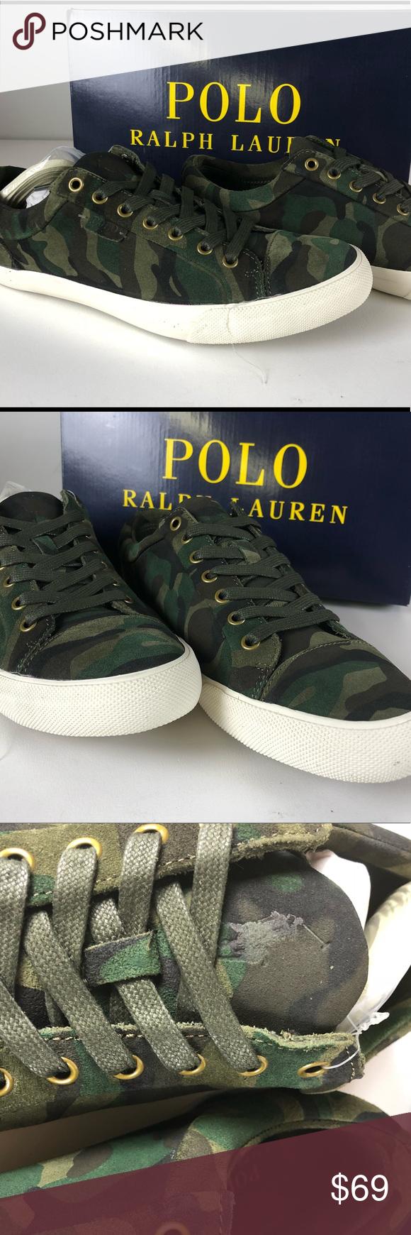 Nib Polo Suede Geffrey Shoes Camo Low Lauren Ralph D2WEIH9Y