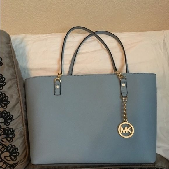 Powder blue color (such a pretty color) Super Spacious and Gorgeous purse!   185 Through Vinted! Michael Kors Bags 929659f7bf8b8