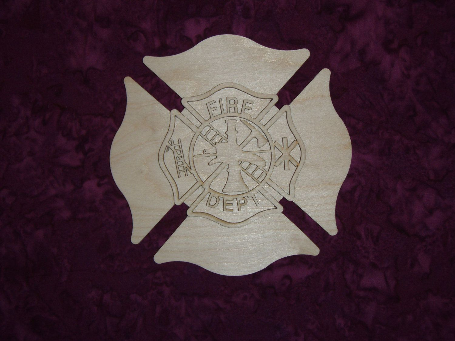 Unfinished wooden crosses for crafts - Fireman Maltese Cross Wood Cut Out Unfinished Wood By Woodman2012 3 99