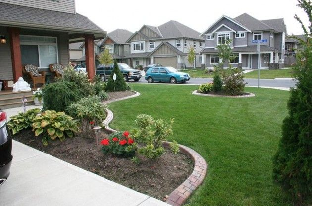 Minimalist Garden Landscaping Design For Front Yard To Beautify