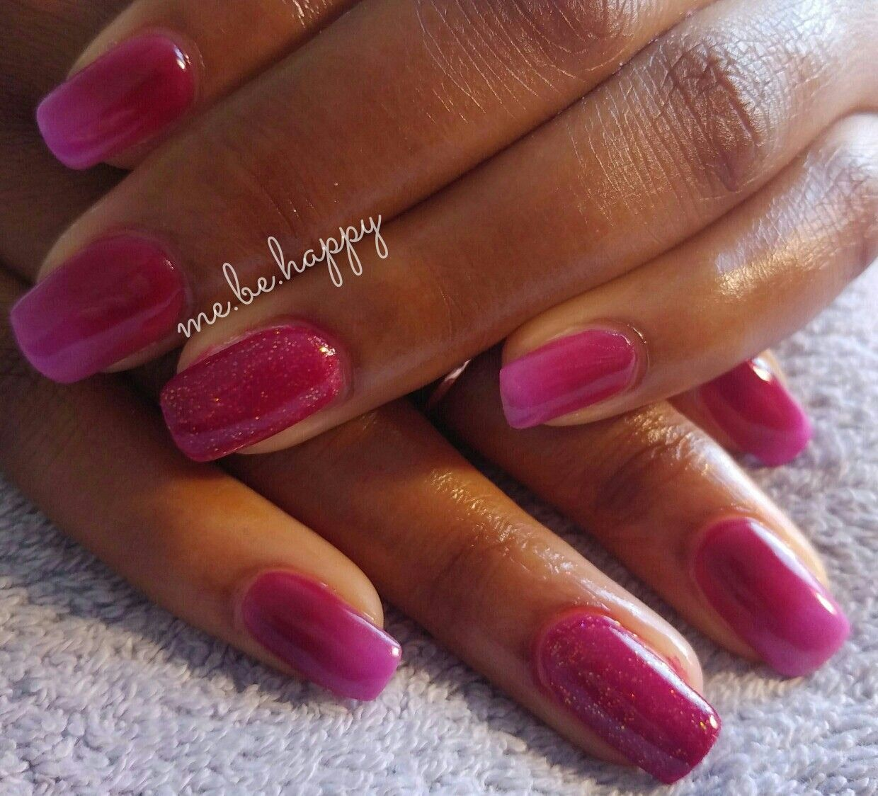Berry acrylic mix.