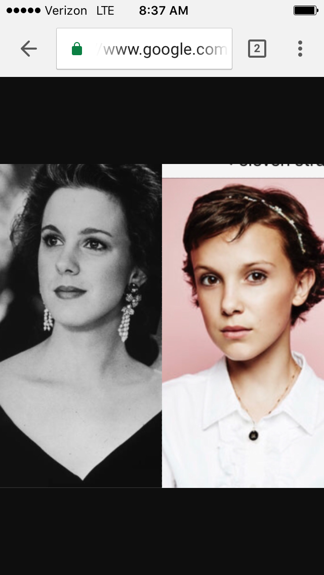 Stranger Things Millie Bobby Brown Looks Just Like Bigs Elizabeth