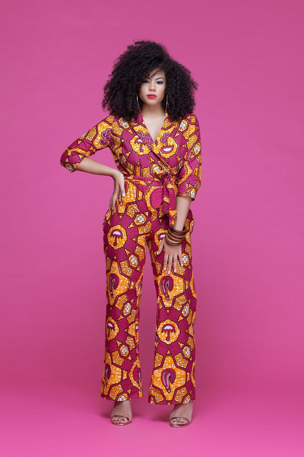 African Print Jessamine Jumpsuit| Grass-Fields| Bold, daring and ...