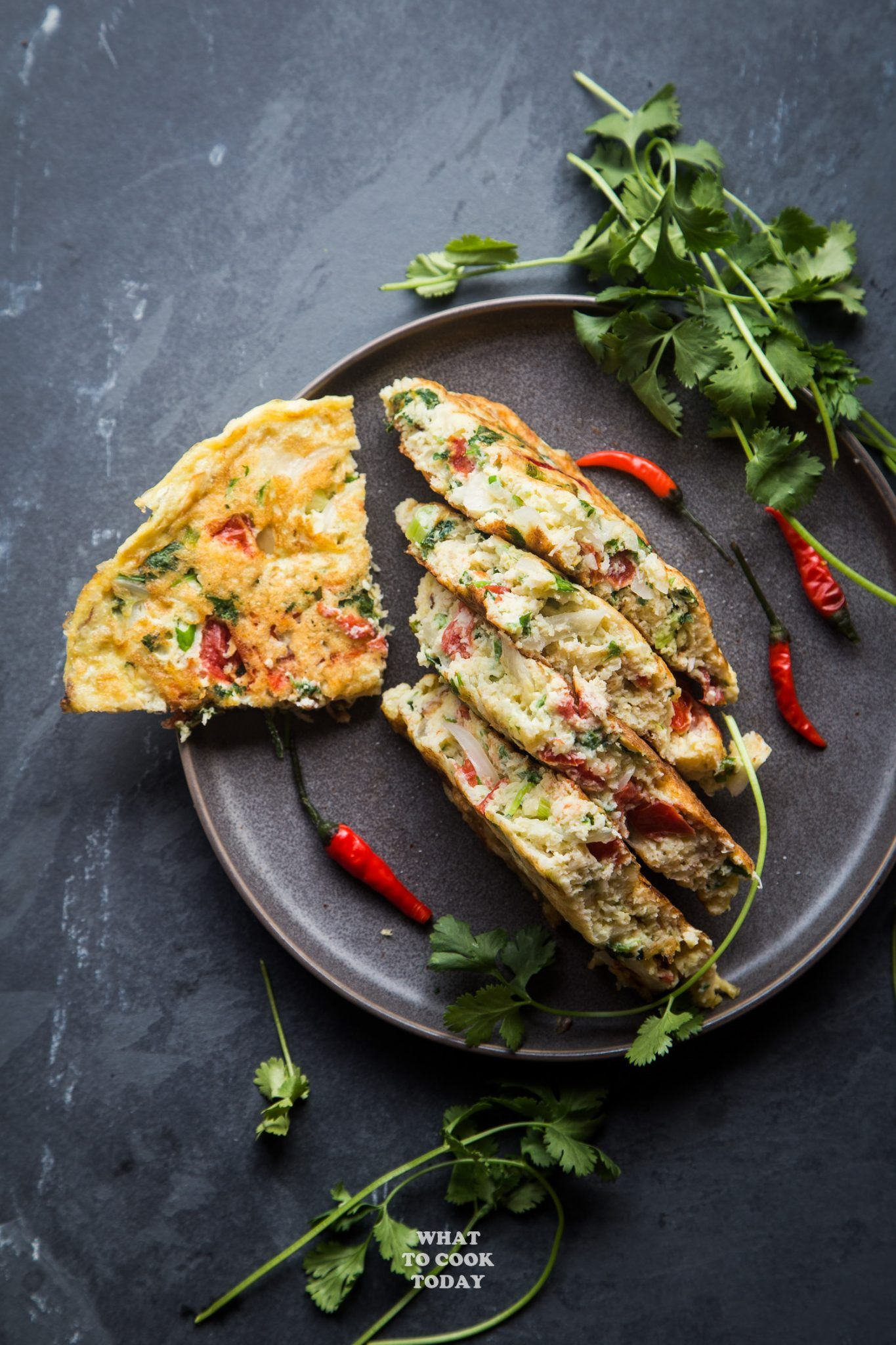 Dadar telur Padang (Indonesian thick omelette) Indian