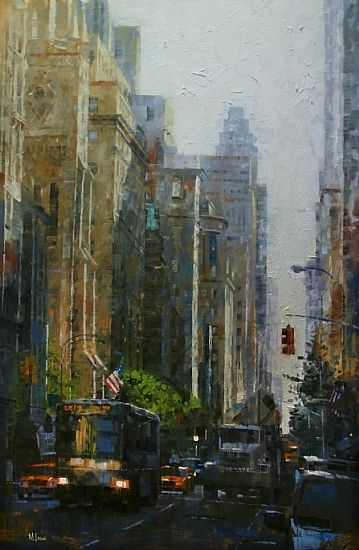 "5th Avenue Light by Mark Lague Oil ~ 36"" x 24"""