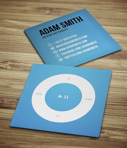 Square business cards design