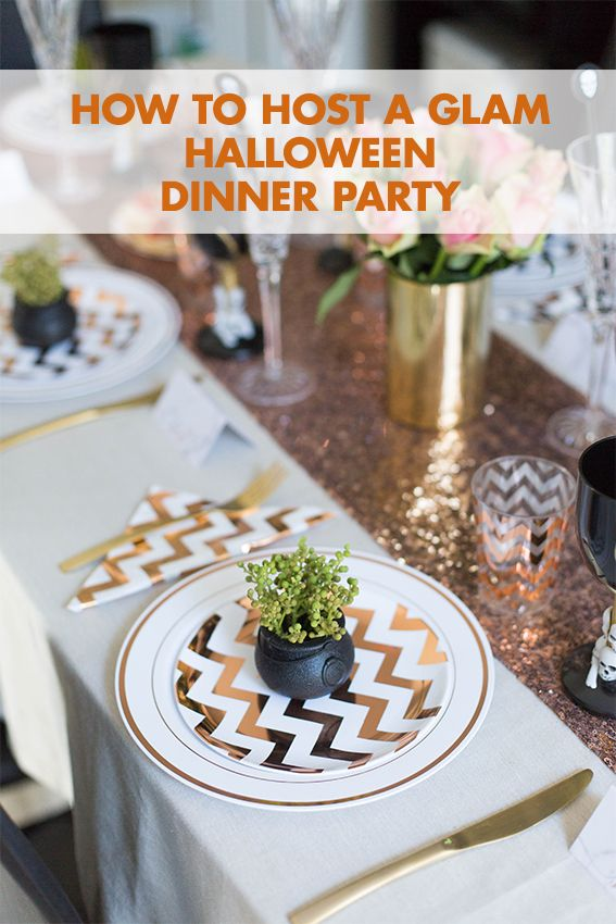 How to Host a Glam Halloween Dinner Party Halloween dinner parties - halloween food ideas for party