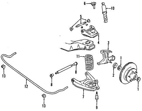 Front Suspension Front Suspension For 1984 Chevrolet G20 1