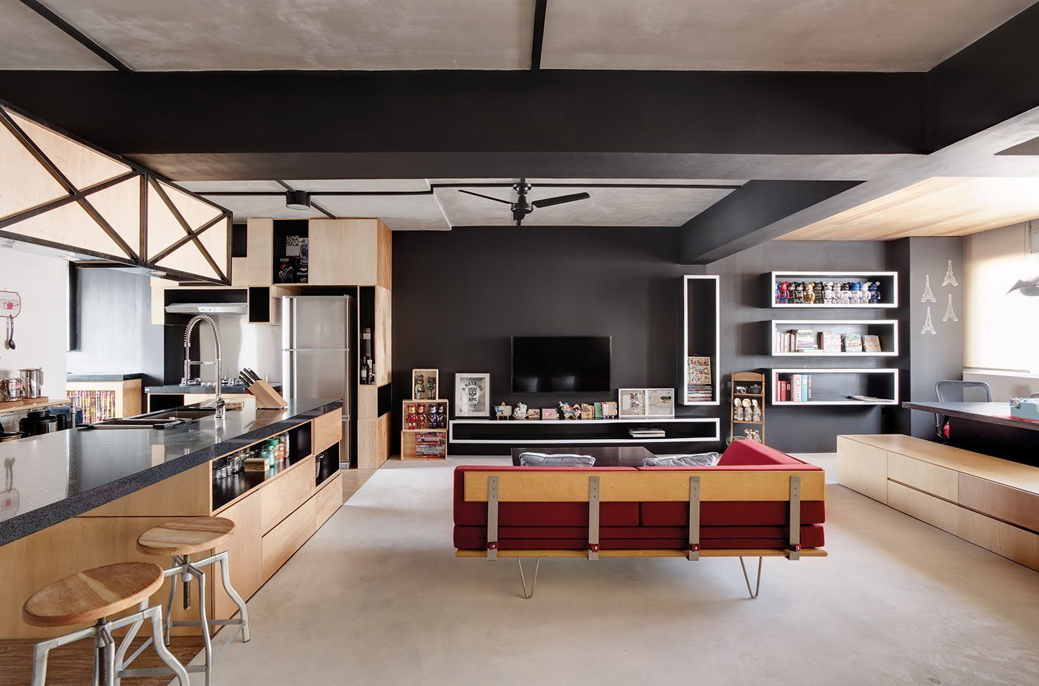 Modern Home Interior Design No Internal Walls 675x446 15 Top