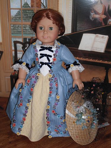 The Dollies Dressmaker | Felicity in Blue Polonaise with ser… | Flickr