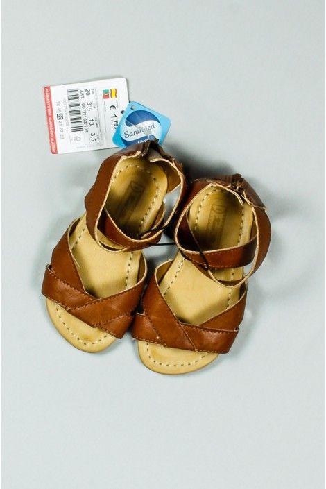 Sandalias De Nina De Tiras Marrones De La Marca Zara De La Talla 20 Precio 9 99 Modainfantil Segundamano Ro Sandalias De Tiras Moda Infantil Sandalias