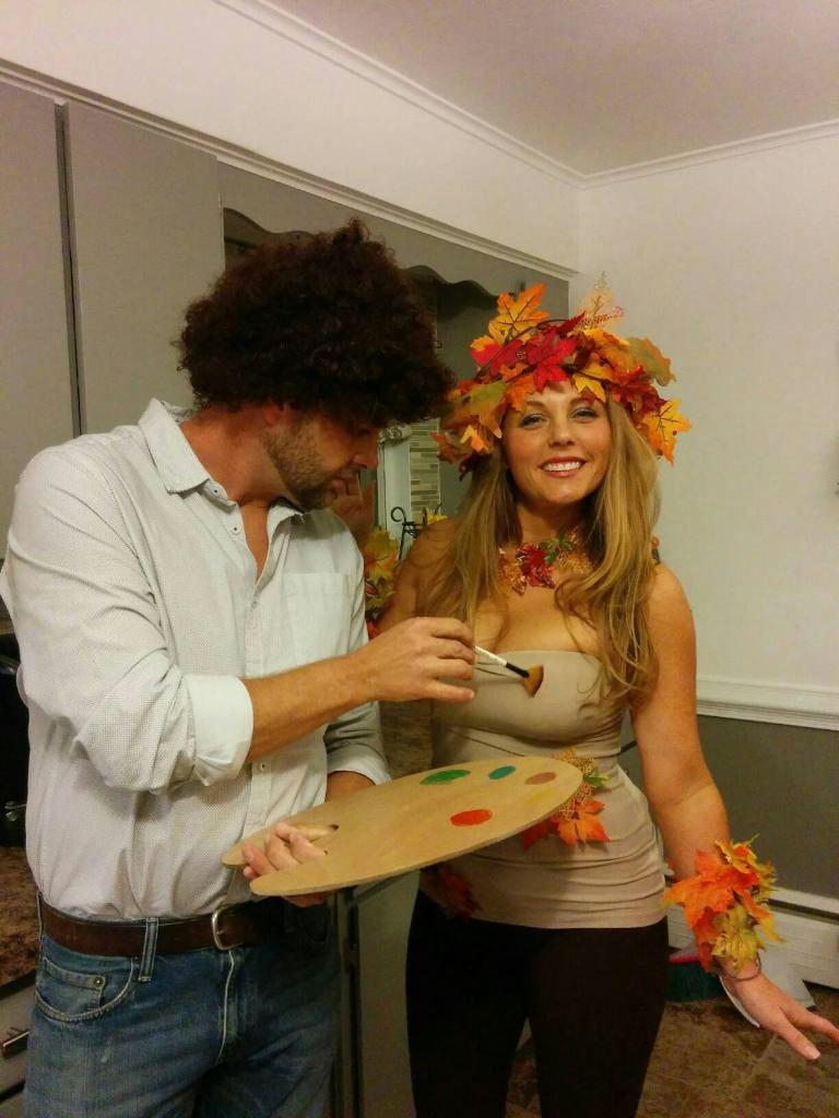 Bob Ross couple costume for Halloween! | DIY | Pinterest | Bob ...