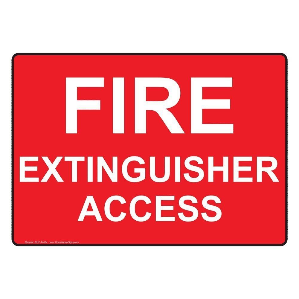 Plastic Fire Extinguisher Access Sign 10 X 7 In With English Text In 5 Different Style By Compliancesigns Compliancesigns Artwork Fire Extinguisher Art