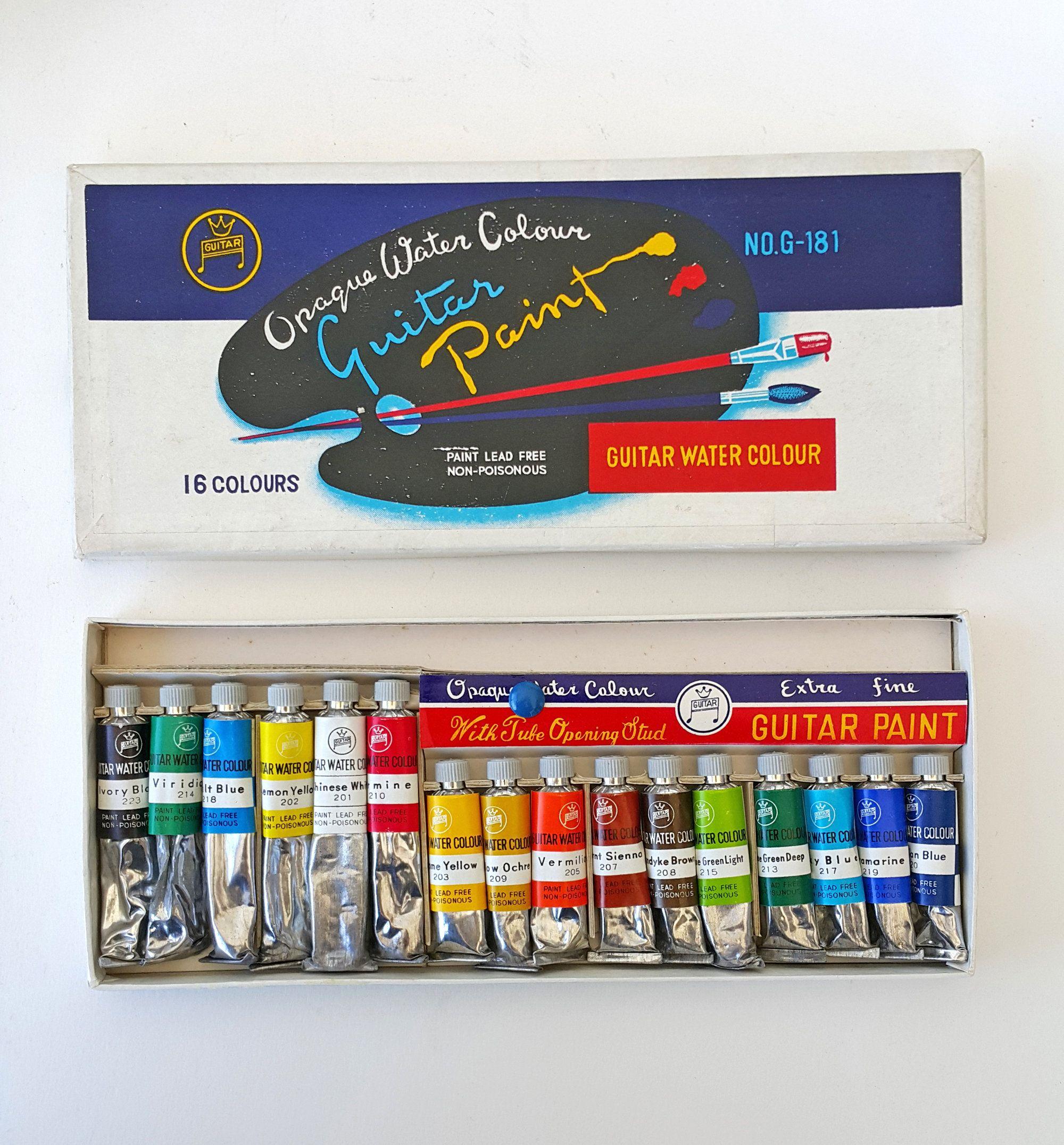 Vintage watercolor paint box Watercolor tubes set Vintage
