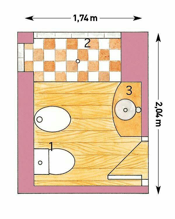 Plano de distribución | Cuartos de baños pequeños, Baños ...