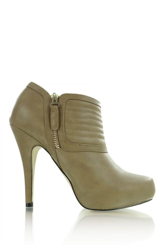 Heel boots model 34608 Heppin. Heel height 12 cm Platform height 2 cm       Size Insole lenght    36 24 cm   37 24.5 cm   38 25.5 cm   39 26 cm   40 26.5 cm   41 27 cm