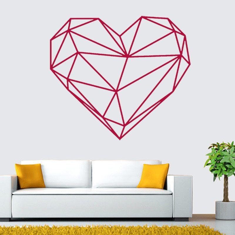 Ontwerp Geometrische Liefde Hartvorm Muursticker Geometrie