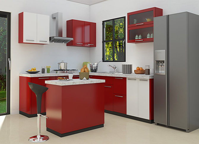 Get The Kitchen Cabinet Of Your Dreams With Hitech Kitchen Cabinets Buy Red Kitchen Cab Beautiful Kitchen Cabinets Kitchen Cabinet Design Red Kitchen Cabinets