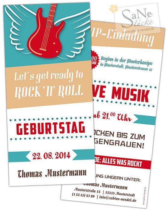 einladung zum geburtstag für alle rockabilly-fans | einladungen, Einladung