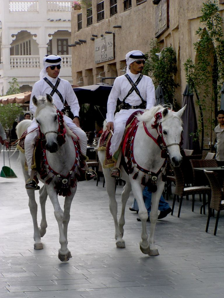 Mounted Police In Doha Police Horse Barn Horses