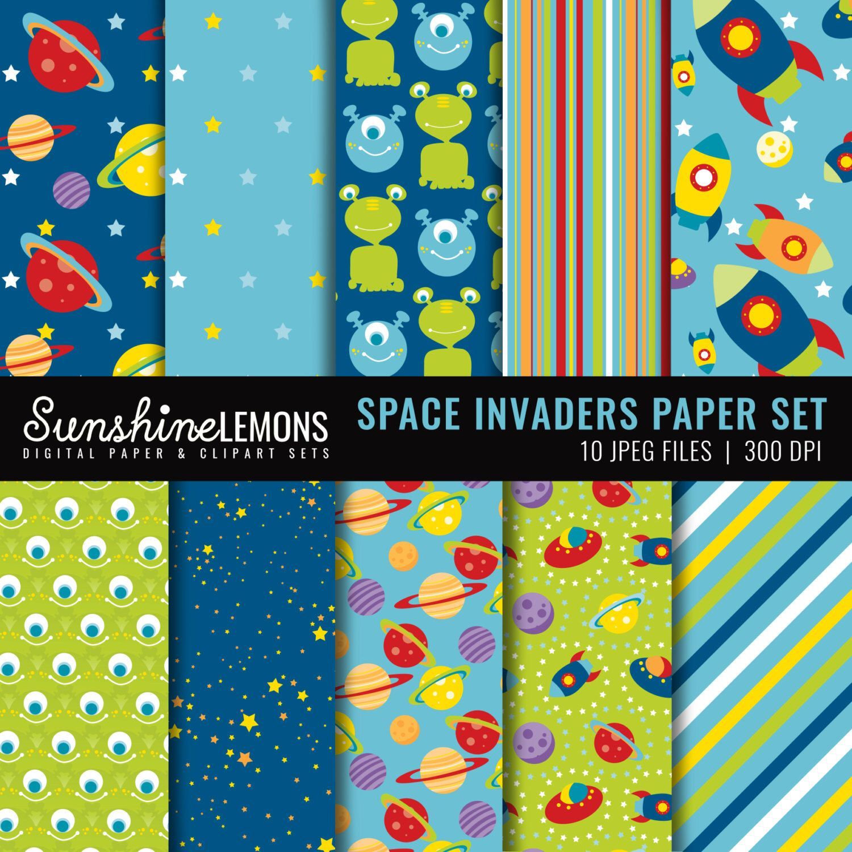 Space Digital Scrapbooking Paper Set - Space Alien Digital Paper Set - COMMERCIAL USE Read Terms Below by SunshineLemons on Etsy https://www.etsy.com/uk/listing/86959592/space-digital-scrapbooking-paper-set