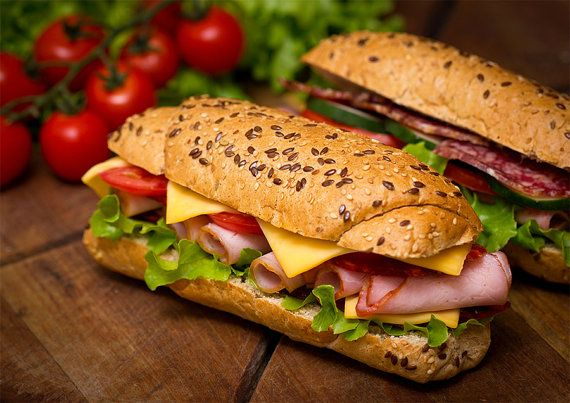 Baguette Decor For Fast Food Restaurant Pub Tavern Inn Food High Quality Art Print Poster A4 Or A3 Fast Healthy Meals Food Healthy Recipes