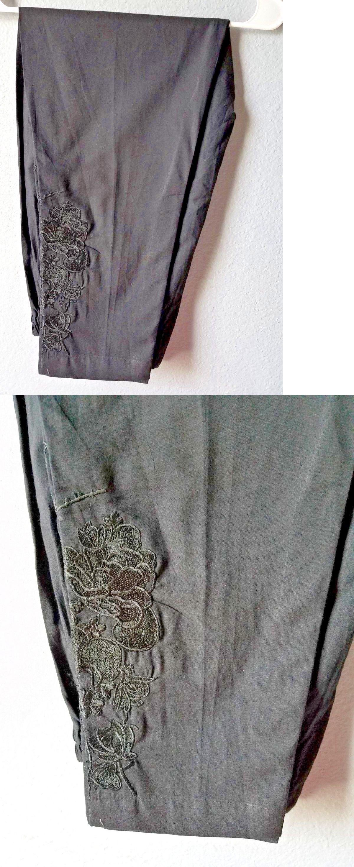 159641665c Other Ind-Pak Clothes and Accs 155251: Latest Ladies Pakistani Fancy  Embroidered Cigarette Pants Black Nwt -> BUY IT NOW ONLY: $23 on #eBay  #other #clothes ...