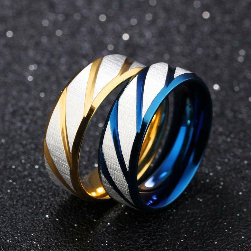 Arco Iris Colorido Titanium Acero Dedo Anillo Hombre//Mujer de compromiso alianza de boda D