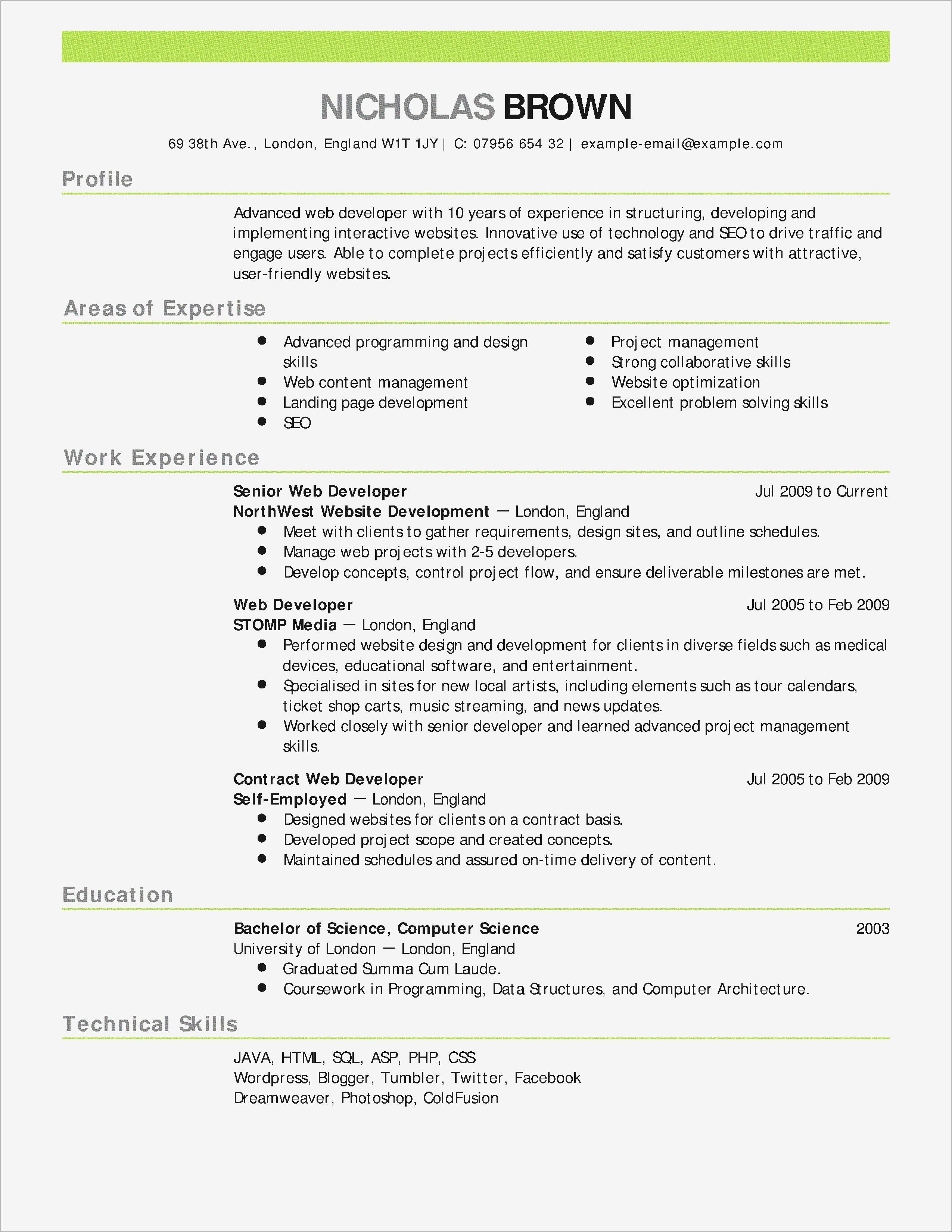 Professional Profile Resume Example To Apply Job Resume Examples